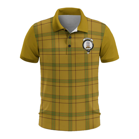 Image of Houston Clans Tartan Polo Shirt - Sleeve Color Bn