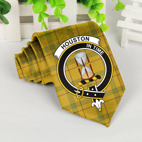 Image of Houston Tartan Tie with Clan Crest TH8