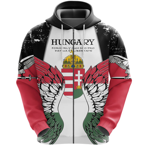 Image of Hungary Turul Wings Zip Hoodie K5