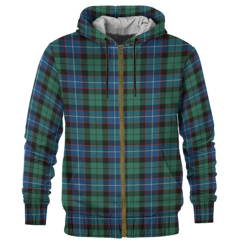 Tartan Zip Hoodie -Hunter Ancient | Men & Women | Clothing