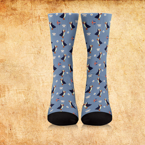 ICELAND PUFFIN PATTERN SOCKS - BN05