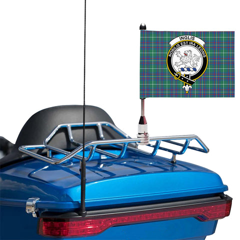 Image of Inglis Ancient Clan Crest Tartan Motorcycle Flag