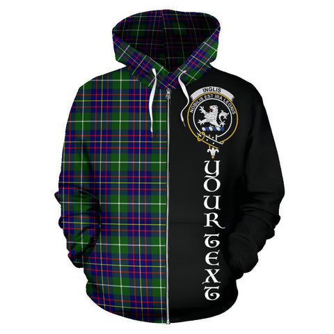 (Custom your text) Inglis Modern Tartan Hoodie Half Of Me | 1sttheworld.com