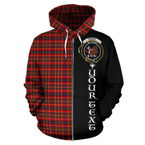Image of (Custom your text) Innes Modern Tartan Hoodie Half Of Me | 1sttheworld.com