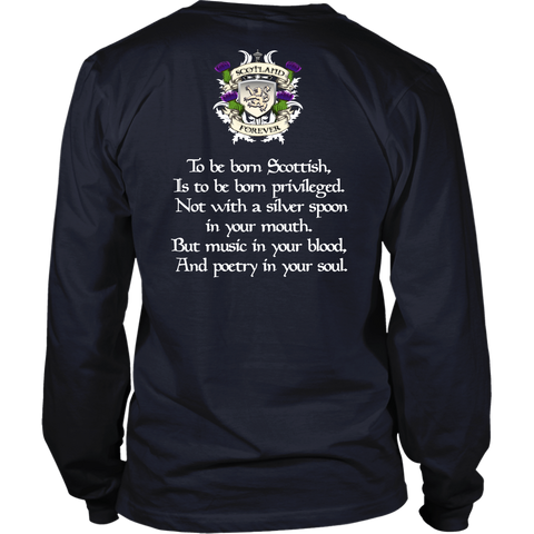 Gunn Tartan T-Shirt - Scottish Proverb k7