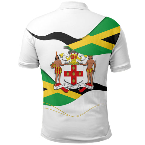 Jamaica Waving Flag Polo Shirt K5