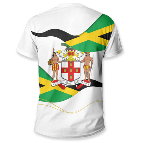 Jamaica Waving Flag T Shirt K5
