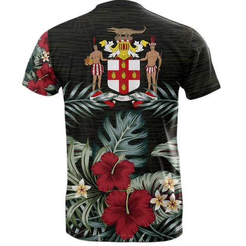 Image of Jamaica Hibiscus T-Shirt | Men & Women | 1sttheworld.com