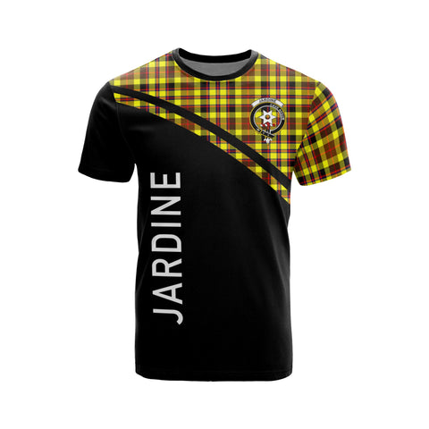 Tartan Shirt - Jardine Clan Tartan Plaid T-Shirt Curve Version Front