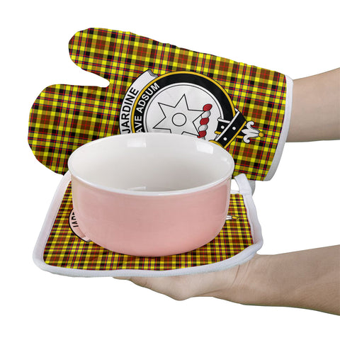 Image of Jardine Clan Crest Tartan Scotland Oven Mitt And Pot-Holder (Set Of Two)