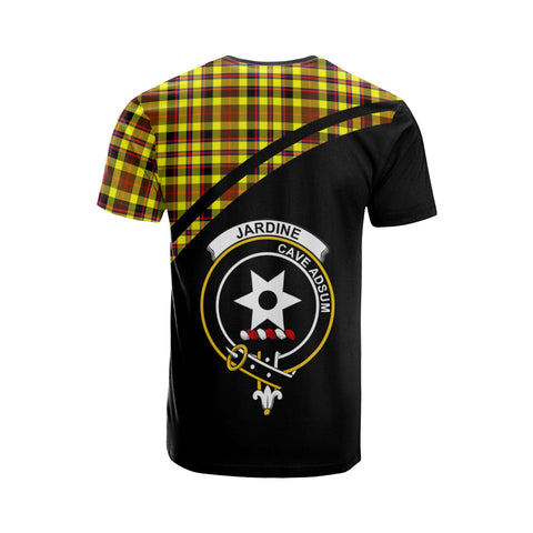 Tartan Shirt - Jardine Clan Tartan Plaid T-Shirt Curve Version Back