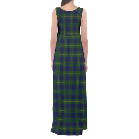 Johnston Modern Tartan Empire Waist Maxi Dress HJ6 |Clothing| Love The World