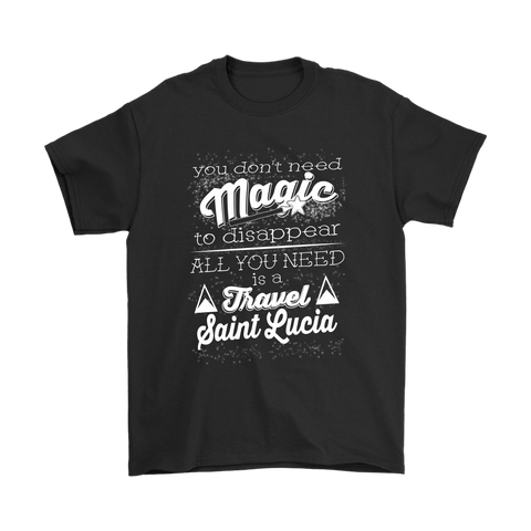 Image of Travel Saint Lucia T Shirt - t shirt, shirts sanit lucia, clothing, st lucia, hoodie sanit lucia