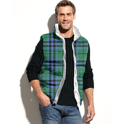 Keith Ancient Tartan Puffer Vest for Men and Women K5