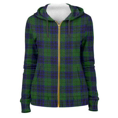 Image of Tartan Zip Hoodie -Keith Modern | Men & Women | Clothing