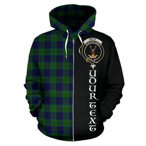 (Custom your text) Keith Modern Tartan Hoodie Half Of Me | 1sttheworld.com