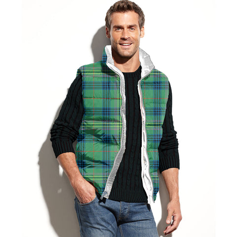 Kennedy Ancient Tartan Puffer Vest for Men and Women K5