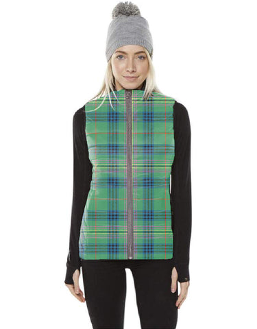 Image of Kennedy Ancient Tartan Puffer Vest for Men and Women K5