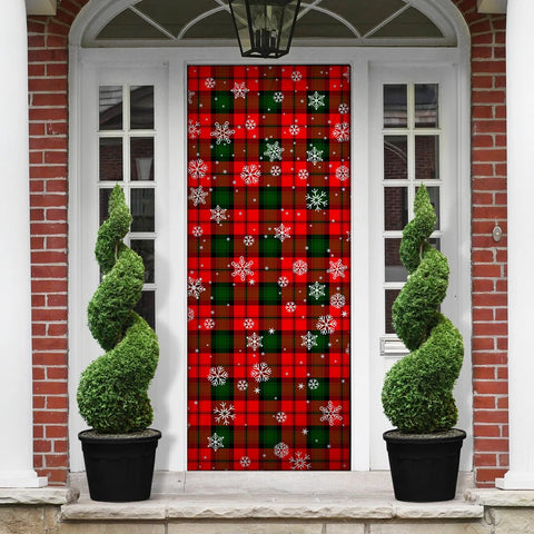 Kerr Modern Christmas Tartan Door Sock Cover