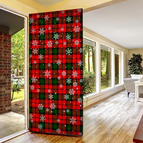 Image of Kerr Modern Christmas Tartan Door Sock Cover