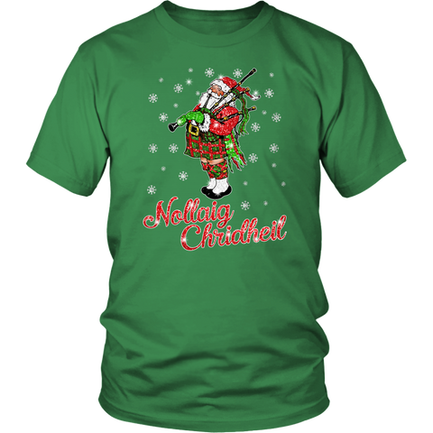 Christmas T-Shirt™ - Santa Scottish Twinkle - BN04