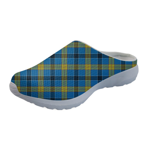 Laing Tartan Back Open Shoes TH8