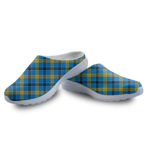 Laing Tartan Back Open Shoes | 1sttheworld.com
