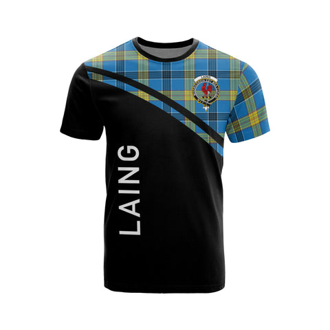 Tartan Shirt - Laing Clan Tartan Plaid T-Shirt Curve Version Front
