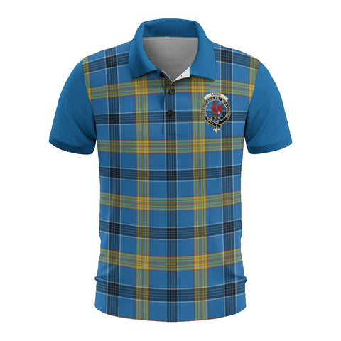 Image of Laing Clans Tartan Polo Shirt - Sleeve Color Bn