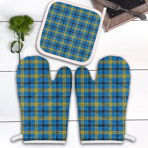 Laing Clan Tartan Scotland Oven Mitt And Pot-Holder (Set Of Two)