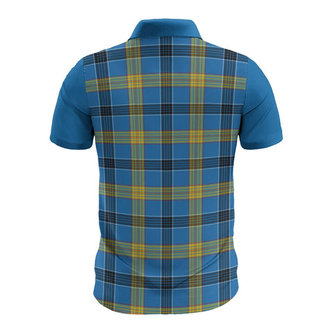 Laing Clans Tartan Polo Shirt - Sleeve Color Bn