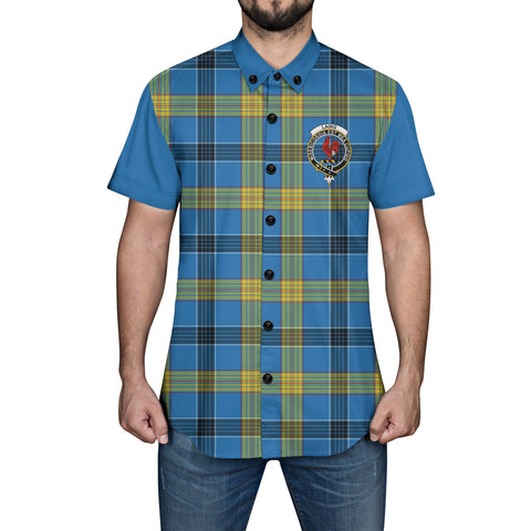 Image of Laing Tartan Short Sleeve Shirt - Sleeve Color - BN