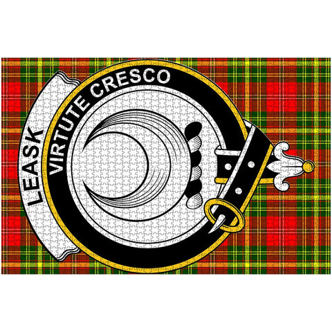 Image of Tartan Puzzle - Leask Clan Tartan Jigsaw Puzzle - BN