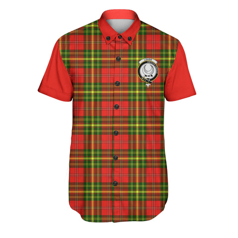 Image of Leask Tartan Short Sleeve Shirt - Sleeve Color - BN