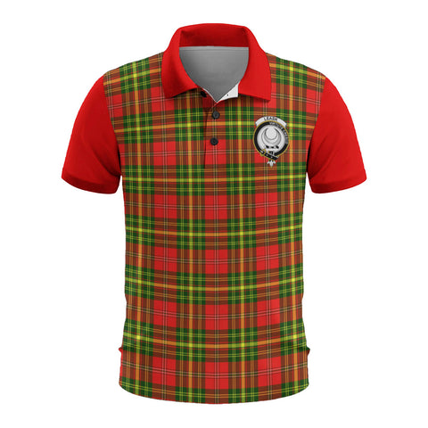 Leask Clans Tartan Polo Shirt - Sleeve Color Bn