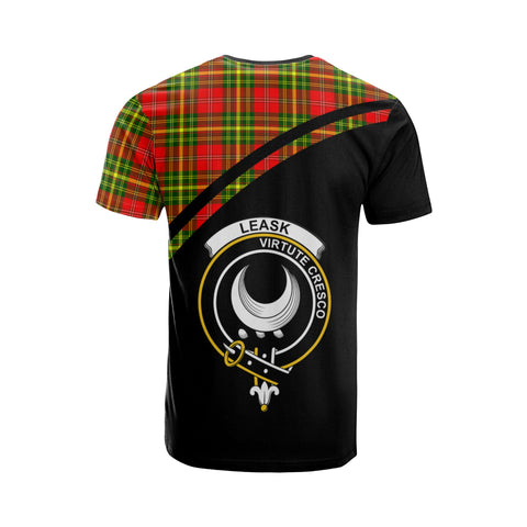 Tartan Shirt - Leask Clan Tartan Plaid T-Shirt Curve Version Back