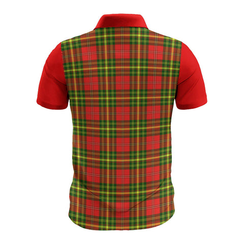 Image of Leask Clans Tartan Polo Shirt - Sleeve Color Bn