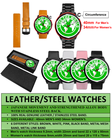 Scottish Thistle Leather/Steel Watch NN8