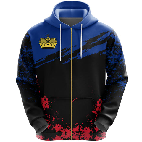 Liechtenstein Zip Hoodie Customized K5
