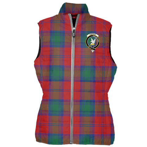 Lindsay Tartan Puffer Vest for Men and Women - Clan Badge K4