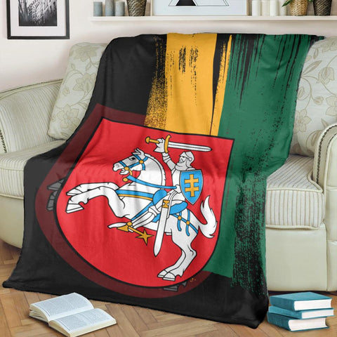 Image of Lithuania Flag Premium Blanket Flag Style