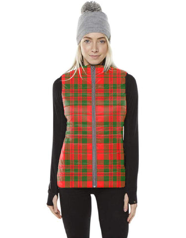 Livingstone Modern Tartan Puffer Vest for Men and Women K5