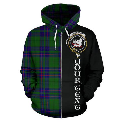 (Custom your text) Lockhart Modern Tartan Hoodie Half Of Me | 1sttheworld.com
