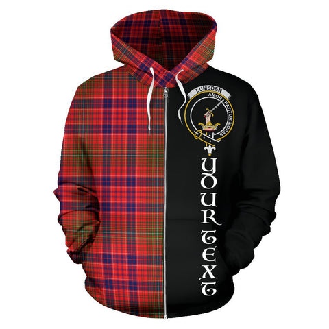 (Custom your text) Lumsden Modern Tartan Hoodie Half Of Me | 1sttheworld.com