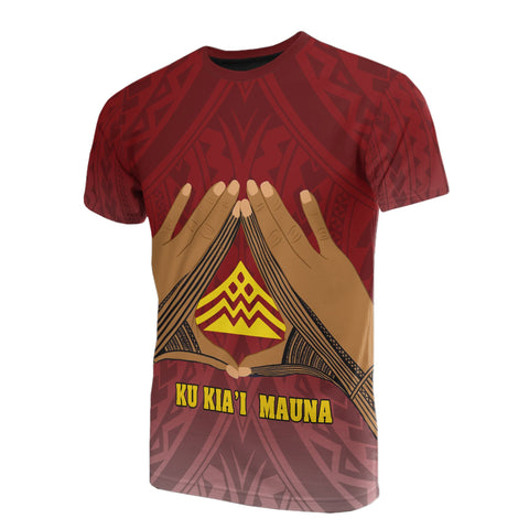 Image of Hawaii Mauna Kea All Over Custom Personalised T-Shirt - Hand Sign Symbol