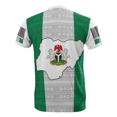 Nigeria T-Shirt - Flag And Coat Of Arm - BN12