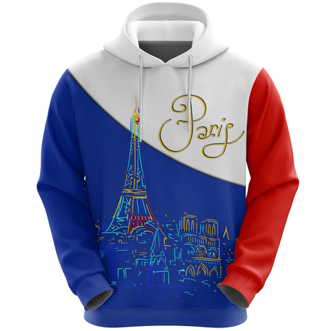 France Hoodie - Paris Eiffel Flag A65