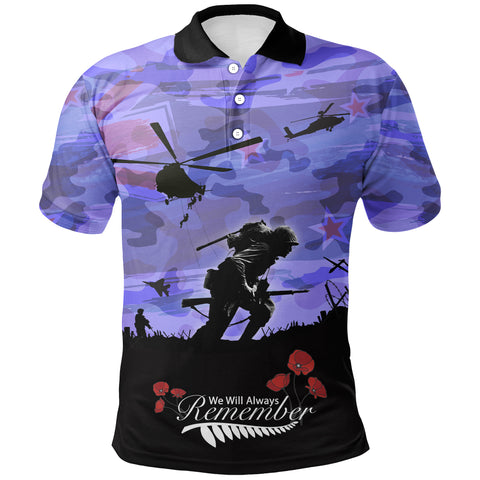 Image of Anzac Day 2021 We Will Always Remember - Polo Shirt A30