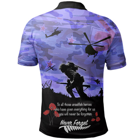 Anzac Day 2021 We Will Always Remember - Polo Shirt A30