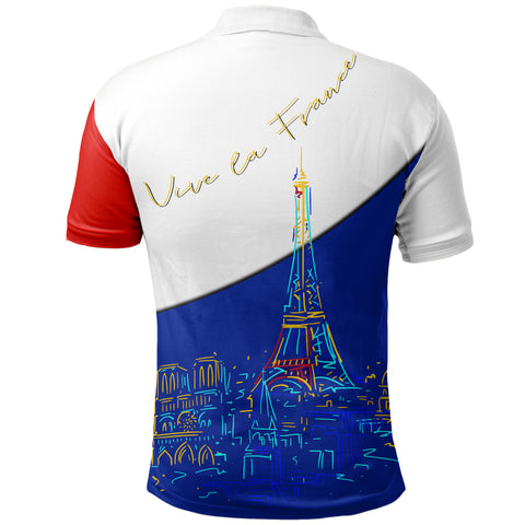 Image of  France Polo Shirt - Paris Eiffel Flag